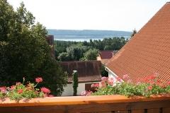 Aussicht vom Balkon des Ferienhofs
