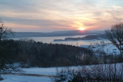 Winter-Impressionen von Ottmannsberg mit dem Großen Brombachsee