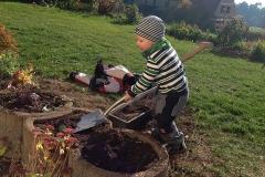 Früh übt sich, wer später Gärtner werden will!