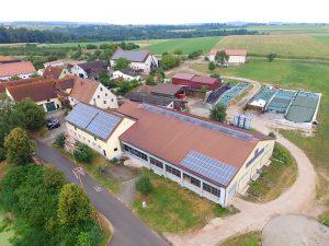 Luftbild des Ferienbauernhofes Hausmann