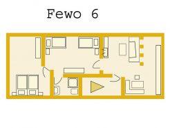 Grundriss der FeWo Bienenkorb